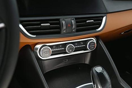 Fit For Alfa Romeo Stelvio 2017 Carbon fiber Central Control Outlet Air Vent