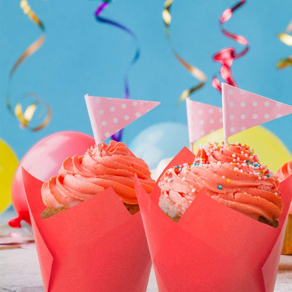 baby showers catering bodas Tulip Cupcake Liners perfecto para fiestas de cumplea/ños 300 vasos medianos para hornear restaurantes baquer/ías envoltorios para magdalenas