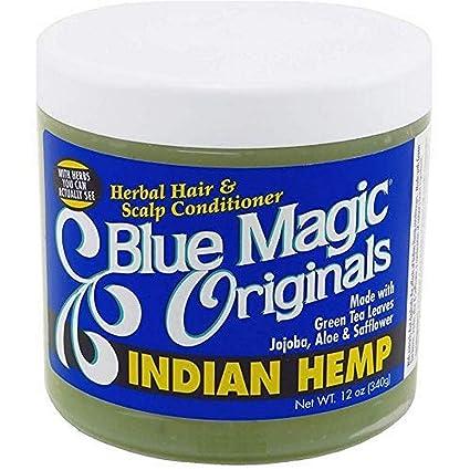 Amazon Com Blue Magic Indian Hemp Conditioner 12 Ounce Hair And Scalp Treatments Beauty