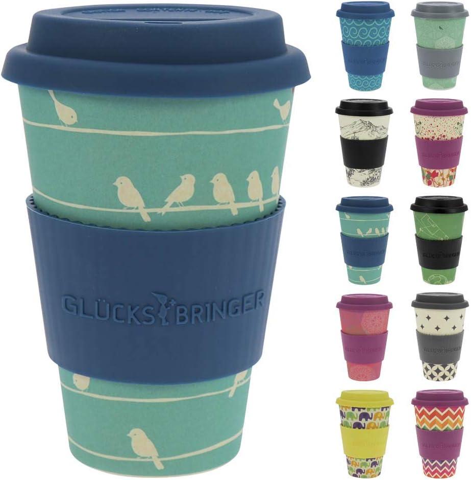 ebos Taza Amuleto de café para Llevar Hecha de bambú | Taza de ...