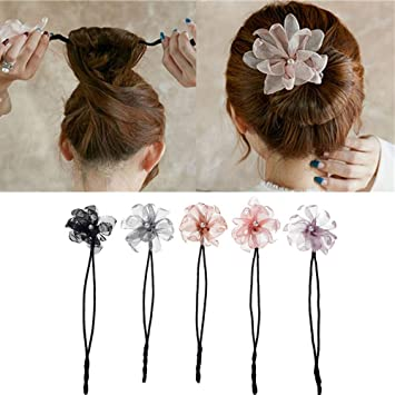Phenomenal Amazon Com Anbibo Magic Hair Bun Maker 5Pcs Pearl Flower Donuts Schematic Wiring Diagrams Phreekkolirunnerswayorg