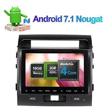 Reproductor de CD y DVD estéreo para coche Android 7.1 en salpicadero, radio de coche