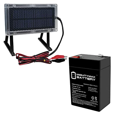 Mighty Max Battery 6V 4.5Ah Battery for American Hunter Deer Feeder + 6V Solar Panel Brand Product: Toys & Games