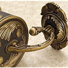 GOWE Luxury Wall Mounted Bathroom Antique Brass Toilet Poper Holder Flower Carved Box