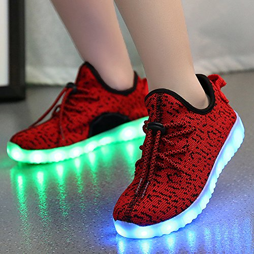 CAYANLAND LED Light Up Shoes Fashion Sneaker for Men Women Kids Child Boy  Girls Slip- 7f412ef2a6