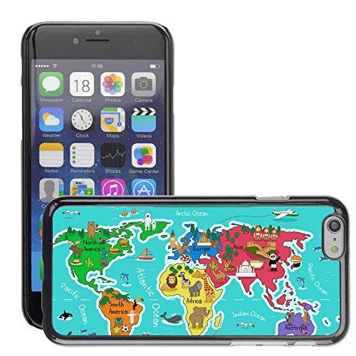 """Premio Sottile Slim Cassa Custodia Case Cover Shell // V00001744 monde Carte de la // Apple iPhone 6 6S 6G 4.7"""""""