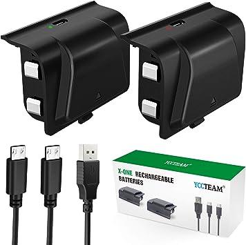 Amazon.com: YCCTEAM - Juego de 2 baterías recargables para ...