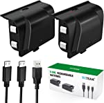 Battery Pack for Xbox One Controller, YCCTEAM 1200mAh Rechargeable Battery [2-Pack]