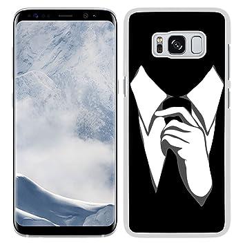 Funda carcasa TPU Gel para Galaxy S8 Diseño corbata blanco y negro ...