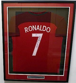 58c6e4e92a7bf Autographed Cristiano Ronaldo Jersey - Framed Nike Red #AB69421 ...