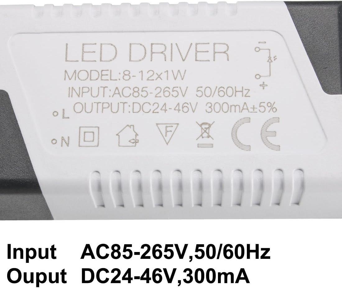 18-25W Constant Current 300mA Haute Power LED Driver DC Connecteur Source courant