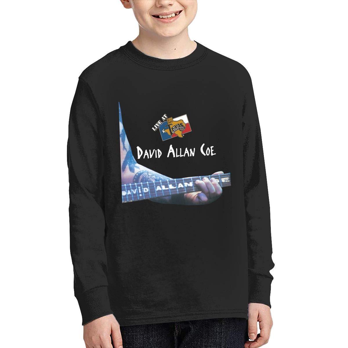 RhteGui David Allen Coe Boys /& Girls Junior Vintage Long Sleeve T-Shirt Black