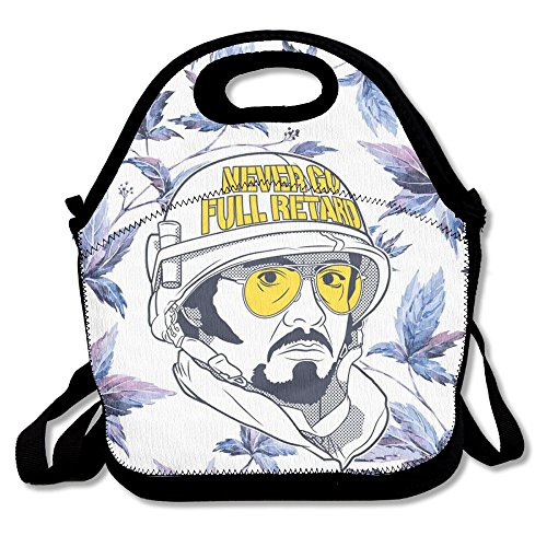 Oswald Carnegie Never Go Full Retard Neoprene Lunch Bag Tote Reusable Insulated Waterproof School Picnic Carrying Gourmet Lunchbox Container - Retard Kit
