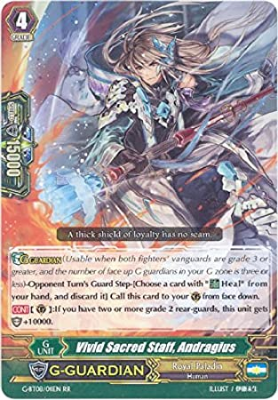 Amazon.com: Cardfight!! Vanguard TCG - Vivid Sacred Staff, Andragius (G-BT08/011) - G Booster Set 8: Absolute Judgment: Toys & Games