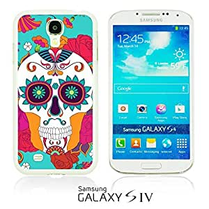 OnlineBestDigitalTM - Flower Pattern Hardback Case for Samsung Galaxy S4 IV I9500 / I9505 - Red Rose With Skull