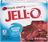 Jell-O Sugar-Free Black Cherry Gelatin Mix 0.3 Ounce Box (Pack of 6)