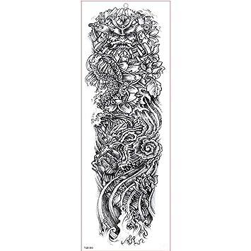 GHHCG Manga del Brazo Grande Tatuaje Impermeable Etiqueta Engomada ...
