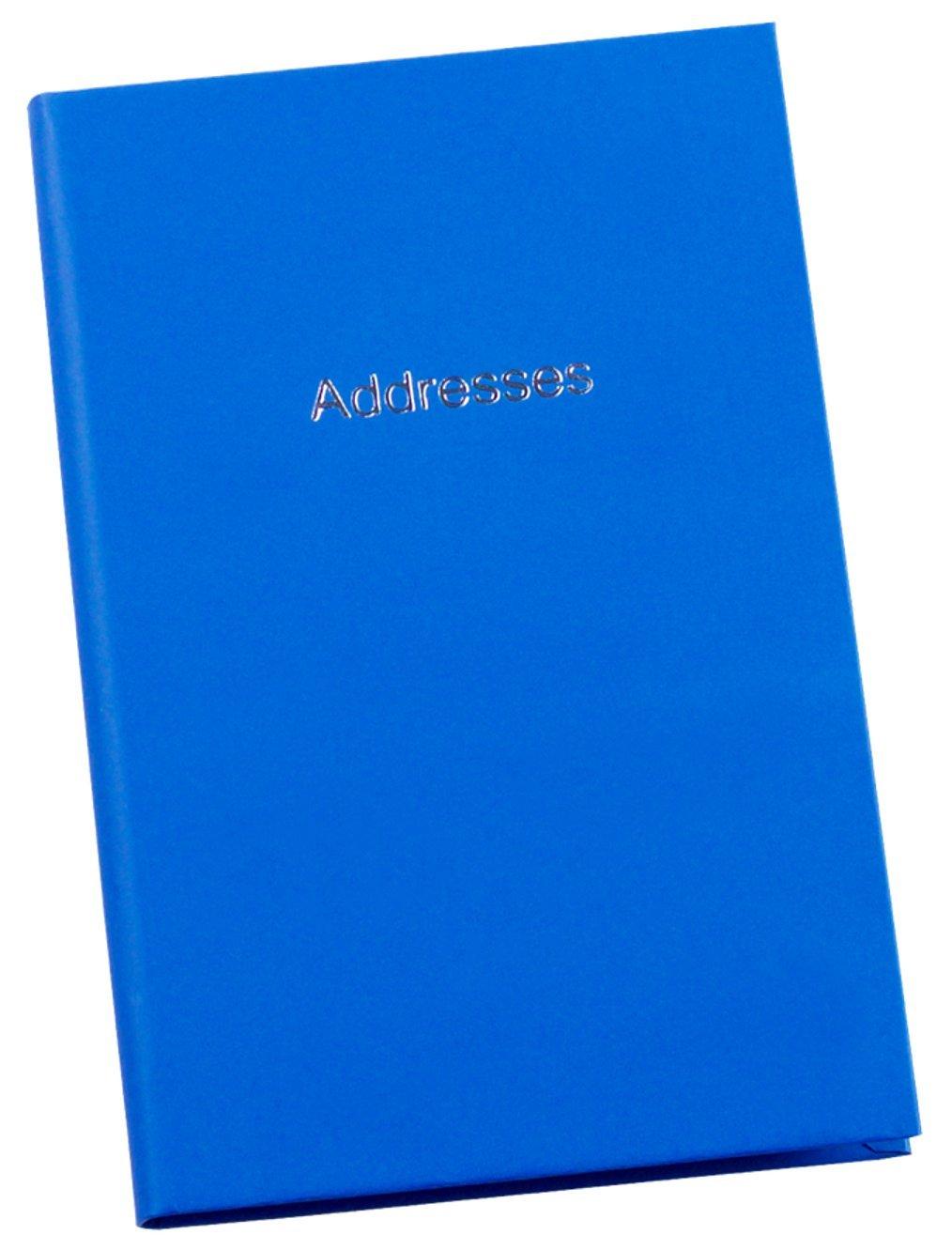Small A7 Pocket Sized Hardback Personal Address Book Blue Esposti EL2-BLUE
