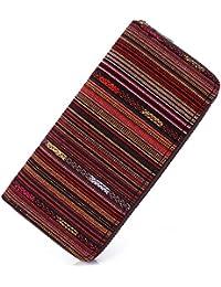 Boho Women Wallet Long Zipper Ladies Cute Clutch Wallets Card Holder,Vintage Hippie Aztec Tribal Style (Multiple)