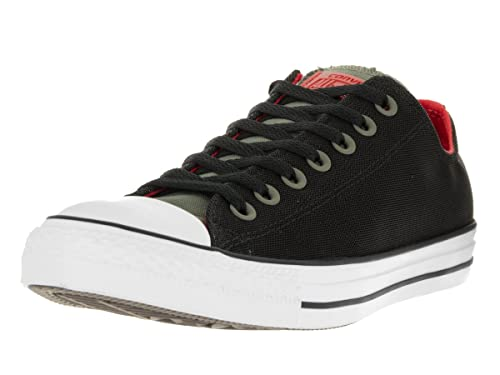 02dc346392f3 Converse Chuck Taylor All Star OX Kurim Unisex Shoes Fatigue Green Black Signal  Red