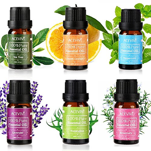 Teamyy Bio Ätherische Öl 6 pcs Set 10 ml Pure Massage Öl aus erstklassiger Qualität