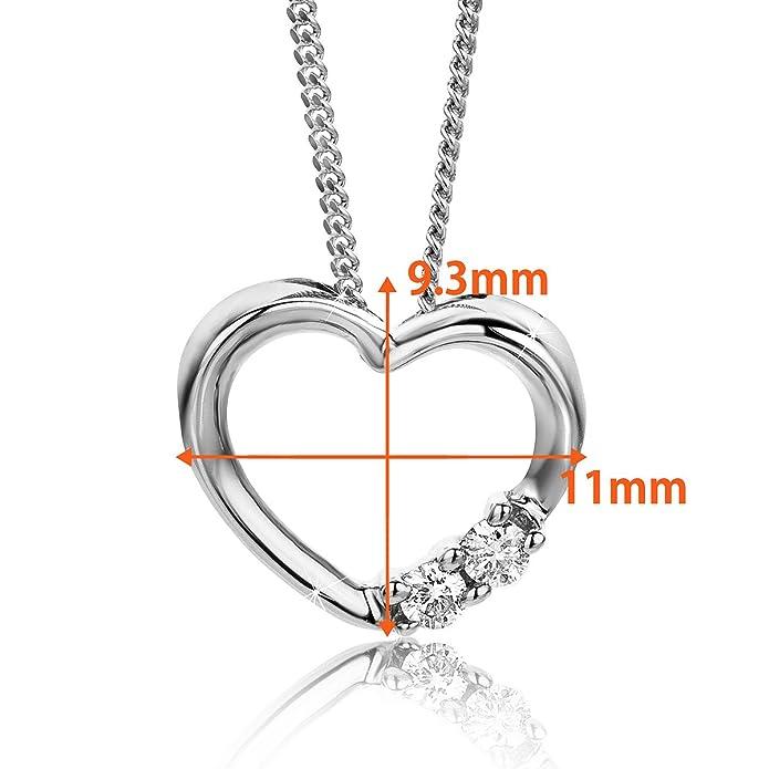 Orovi colgante de mujer corazón 0.05 Quilates diamantes en oro ...