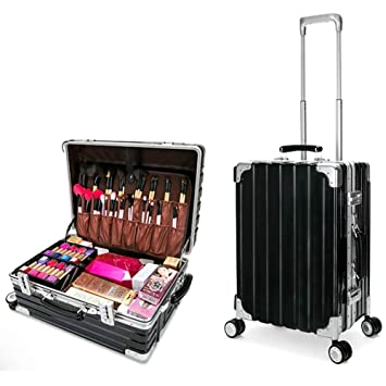 Amazon.com: WWCASE Mutifunction Travel Makeup Train Case Professional Cosmetic Storage Organizer Portable Luggage with 4 ABS 360-degreed Wheels: Sports & ...