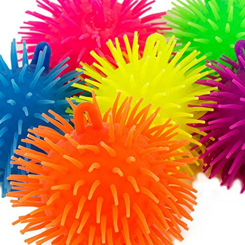Adorox 24 Pack Novelty Puffer Balls Sensory Stress Relax Relief Therapy Toy Party Favor (24)