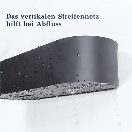 Qeekzeel Duschregal Ohne Bohren Duschkorb Organizer Nagelfrei Selbstklebend Space Aluminum Kein Schaden Wandh/ängend Matte Finish F/ür Badezimmer K/üche