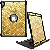 """MightySkins Skin for OtterBox Defender Apple iPad Pro 10.5""""(2017) - Gold Tiles 