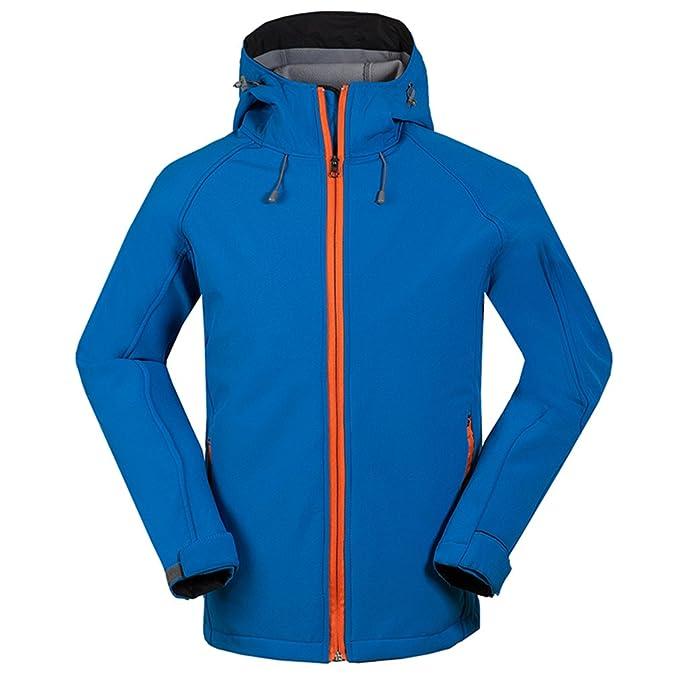 f83f567cc9c83 emansmoer Homme Veste Softshell Chaud Doublé polaire Coupe-vent Imperméable  Outdoor Sport Veste de Camping