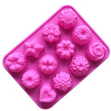 misite flores Navidad molde de silicona para bombones, pastel, gelatina y hielo # 008: Amazon.es: Hogar