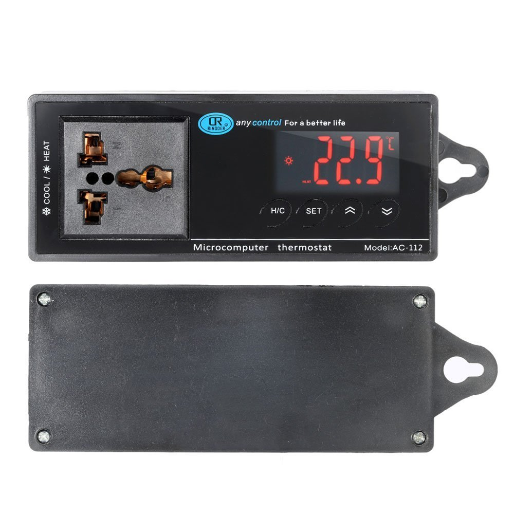 Anself ac-112 – LED Digital Temperaturregler Thermostat für Aquarium ...