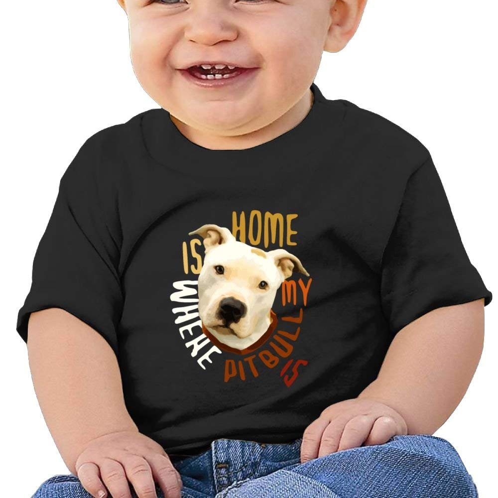 Shirt Home is Where My Pitbull Birthday Day 6-24 Months Baby Boy Toddler