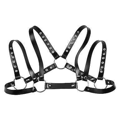 Amazon Com Iefiel Men Faux Leather Shoulder Harness Adjustable Body