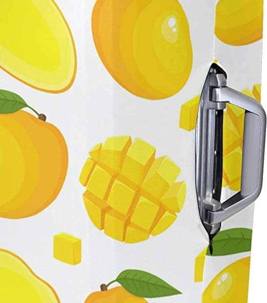FOLPPLY Orange Lemon Luggage Cover Baggage Suitcase Travel Protector Fit for 18-32 Inch