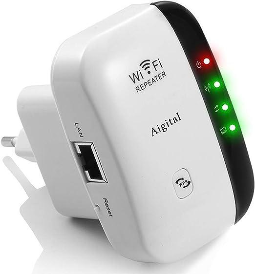 [New] Repetidor WiFi inalámbrico,Velocidad 300Mbps Extensor de Red wifi (Botón WPS, modo AP y Repeater, Fácil de configurar, Compatible con Router y ...