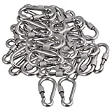 CNBTR M6 x 61mm Quick Link Chain Snap Hook 304 Stainless Steel Rope Cable Carabiner Connector Heavy Duty Set of 50