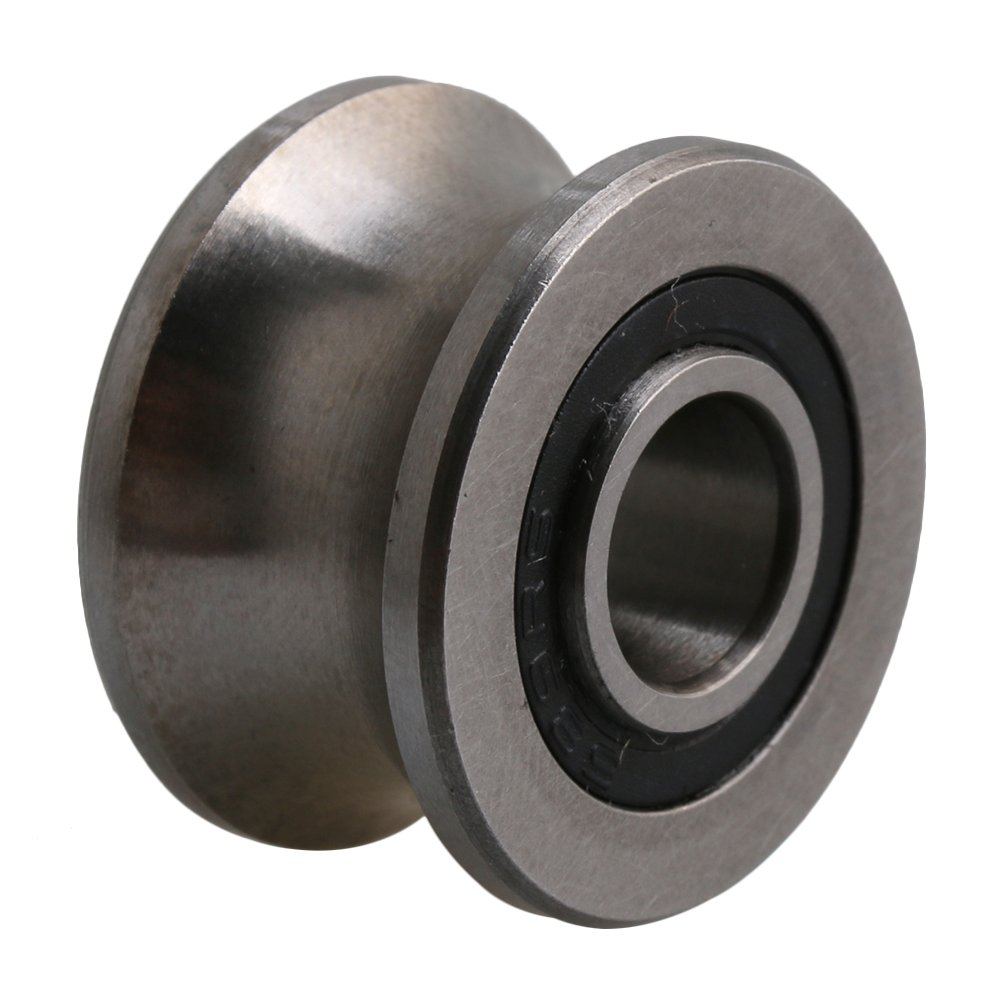 Yibuy Silver Steel Ball Bearing 22.5x13.5mm U Type Groove Pulley for 12mm Path