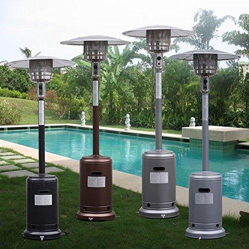 Garden Propane Standing LP Gas Steel Accessories Heater - Black by Apontus