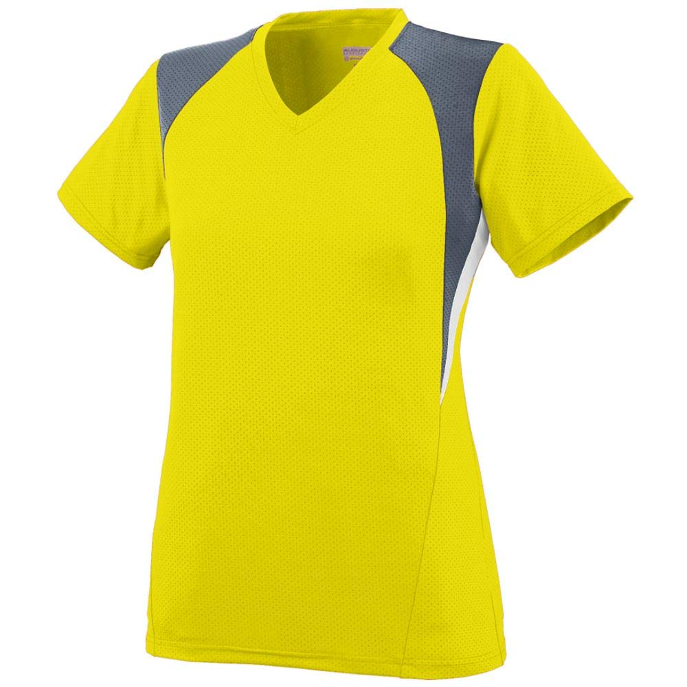 Augusta Sportswear Girls' Mystic Jersey S Power Yellow/Graphite/White