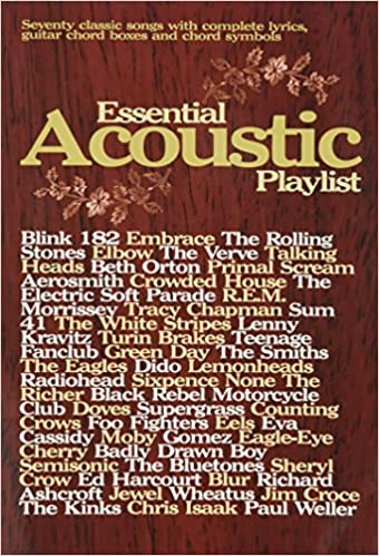 Essential Acoustic Playlist Guitar Chord Songbook Amazon