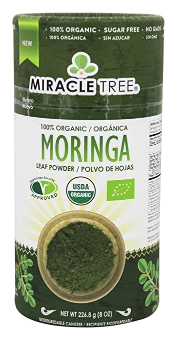 Miracle Trees 100% Organic Moringa Superfood Powder | Smoothies, Baked Goods, Lattes |