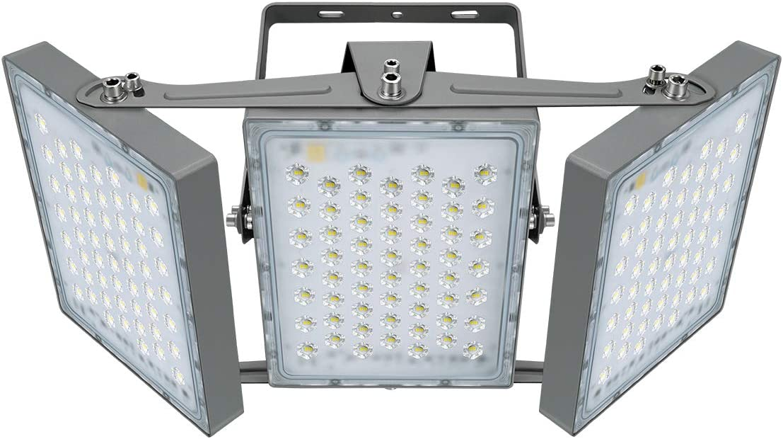 LED Flood Light, STASUN 300W 27000lm Outdoor Security Lights with Wider Lighting Angle, 5000K Daylight, Adjustable Heads, IP65 Waterproof Outdoor Lighting for Yard, Court, Street, Parking Lot