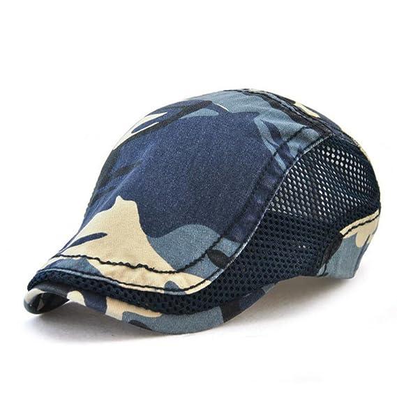 Boinas Ocio Retro Hat Unisex Gorra de Golf Sombrero de Sol Deporte al Aire  Libre Primavera a7b8de036bd