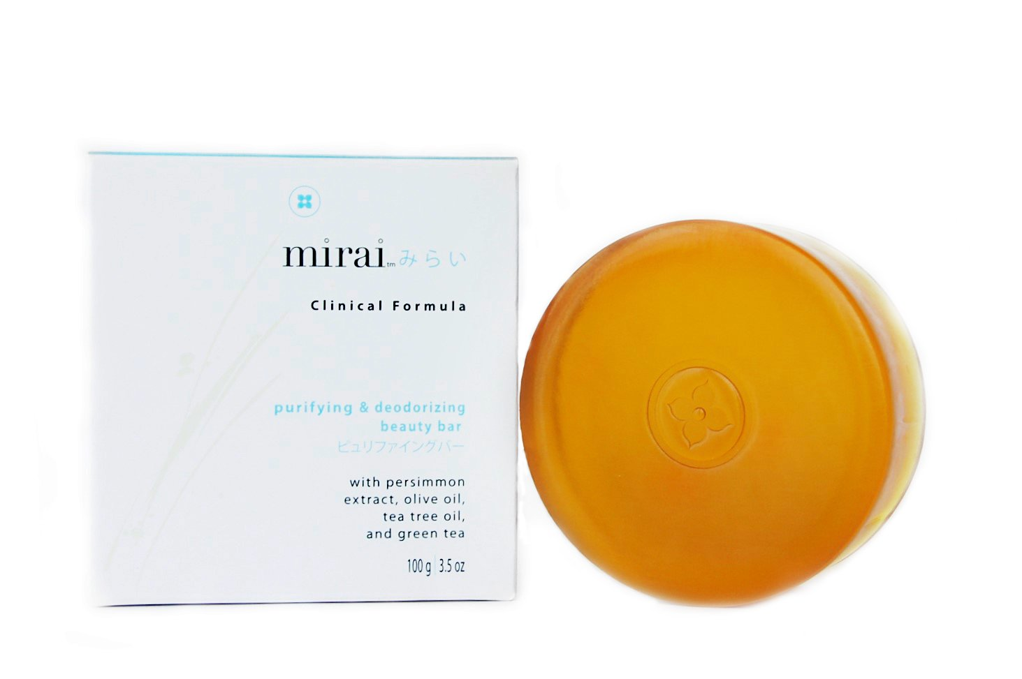 Purifying & Deodorizing Soap Bar | Handmade Soap with Japanese Persimmon Extract to Help with Nonenal Body Odor Associated with Aging | Artisanal Japanese Soap for Men & Women | 4 bars 100g each by Mirai Clinical (Image #3)