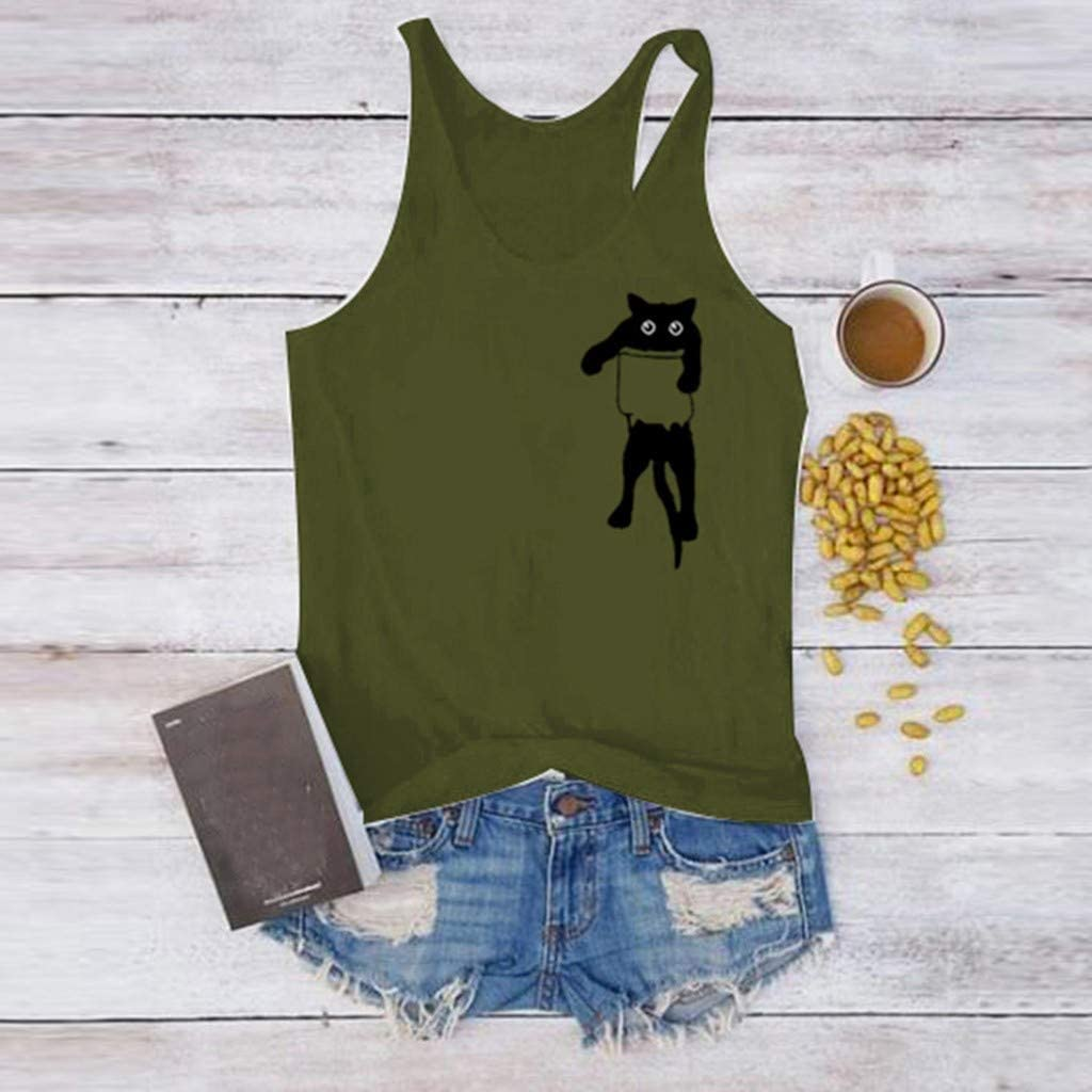 Womens Crop Top Fashion Letter Printed Shirts Sleeveless Workout Blouse Loose Soft Tee Vedolay Women Tank Tops