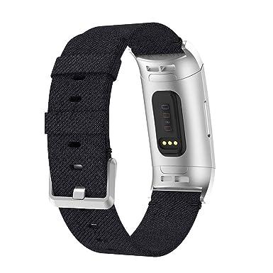 Bracelet pour Fitbit Charge 3, YUYOUG Tissu de Toile de ...
