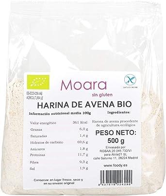 Harina de avena integral y neutra, BIO sin gluten y sin azúcar - Harina de avena ecológica sin sabor, ideal para repostería y recetas fitness - Otmeal ...