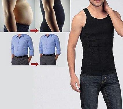 9e0941690c Image Unavailable. Image not available for. Color  New Men Slim N Lift Body  Shaper Underwear Vest Shirt Corset Compression ...